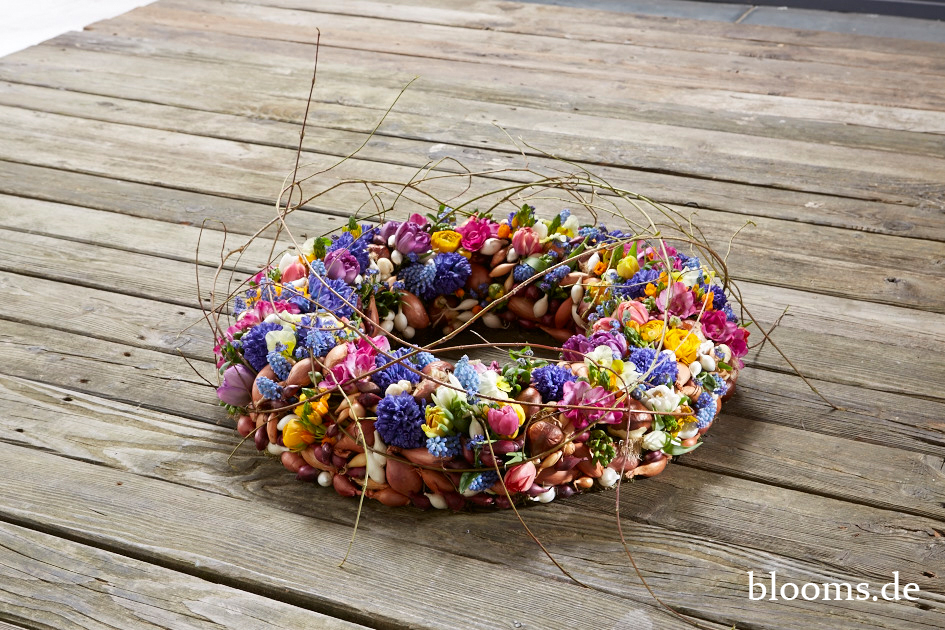 Funeral wreath of spring blossoms by Radko Chapov 3
