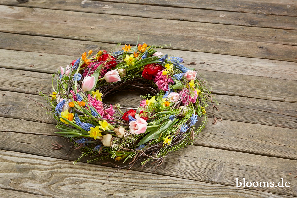 Funeral wreath of spring blossoms by Radko Chapov 5